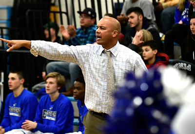 12/22/2016 Mike Orazzi | Staff Bristol Eastern High School boys basketball coach Bunty Ray.