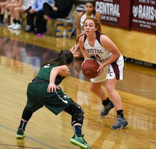 121916  Wesley Bunnell | Staff  Bristol Centrals girls basketball took on visiting Maloney on Monday evening. Senior Brianna Hamel (14).