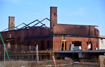 12/21/2016 Mike Orazzi | Staff The historic train station in Berlin after  an early morning fire Wednesday morning.