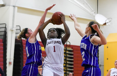 121316  Wesley Bunnell | Staff  New Britain girls basketball was defeated by visiting Bristol Eastern Thursday night at New Britain High School. New Britain's Inana Rice (1).