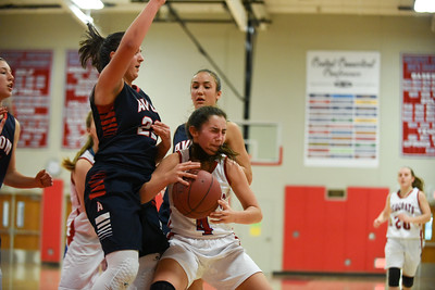 122716  Wesley Bunnell | Staff  Berlin High School girls basketball defeated Avon on Tuesday afternoon.  Berlin's Lyzi Litwinko (4).