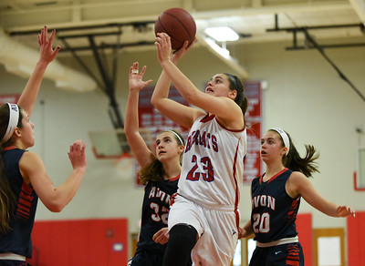 122716  Wesley Bunnell | Staff  Berlin High School girls basketball defeated Avon on Tuesday afternoon. Berlin's Alyssa Grant (23).