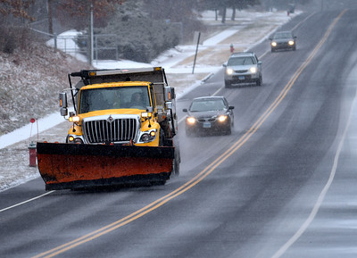 12/29/2016 Mike Orazzi | Staff A city of Bristol snowplow on James P. Casey Road during Thursday's storm.