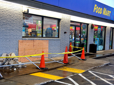 12/29/2016 Mike Orazzi   Staff Motor Vehicle Accident (car vs. building) at the SUNOCO gas station located 957 West St. in Southington.