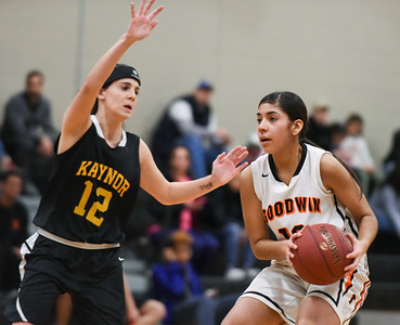 122916  Wesley Bunnell   Staff  E.C. Goodwin girls basketball came away with the runner up trophy in the Goodwin Tech Holiday Basketball Classic Tournament. Joarielys Martinez (10).