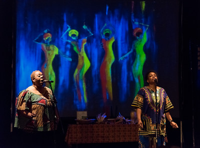 123016  Wesley Bunnell | Staff  Queen Ann Nzinga Center held a Kwanzaa celebration on Dec 30 at Trinity-on-Main. An African spiritual titled We Are One performed by Nzinga's Daughters.