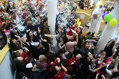 12/31/2016 Mike Orazzi | Staff Confetti drops during the 11th Annual Celebrations around the World at the Imagine Nation in Bristol Saturday.