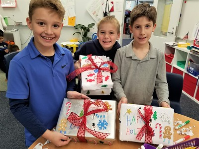 Fourth Graders Donate Holiday Shoebox Gifts to SOME