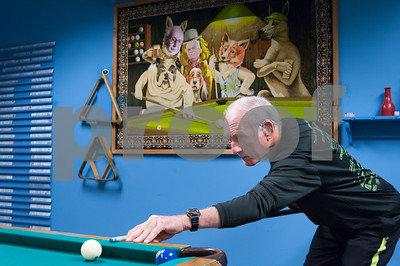 12/05/17   Wesley Bunnell | Staff  Jim Driscoll lines up his shot during a game of 8 ball at the Bristol Senior Center on Tuesday afternoon.