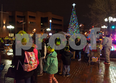 12/05/17   Wesley Bunnell | Staff  New Britain held their annual Tree Lighting at Central Park on Tuesday evening with a visit from Santa Claus.  The line of eager children and adults as they wait for their turn with Santa.