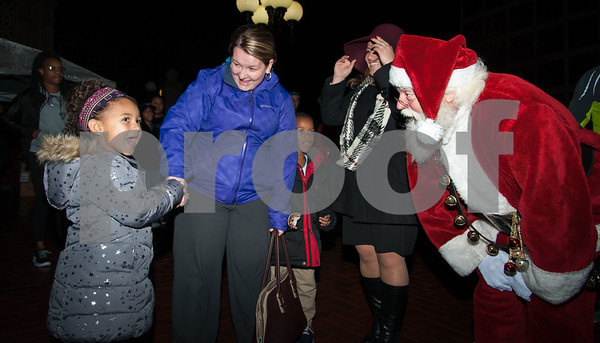 12/05/17   Wesley Bunnell | Staff  New Britain held their annual Tree Lighting at Central Park on Tuesday evening with a visit from Santa Claus. Hayden Dupree, age 4, smiles as she talks to Santa. Hayden was the first in line and had the honor of helping light this years tree.
