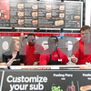 12/11/17  Wesley Bunnell | Staff<br /> <br /> Firehouse Subs opened for business on Monday at their new location at 594 Farmington Ave. Alayna O'Toole, L, works alongside Kesean Millard, 3rd from L, and Clint Wallburg.