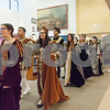 12/12/17  Wesley Bunnell | Staff<br /> <br /> The New Britain High School Madrigal Singers performed as they walked through the  public library on Tuesday morning. The singers walk past the circulation desk on the main floor.