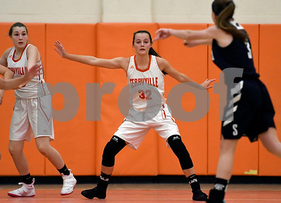 12/12/2017 Mike Orazzi | Staff Terryville's Alana Girch (32) during Tuesday night's girl's basketball game with Shepaug.