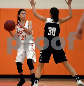 12/12/2017 Mike Orazzi | Staff Terryville's Amy Roqi (21) during Tuesday night's girl's basketball game with Shepaug.