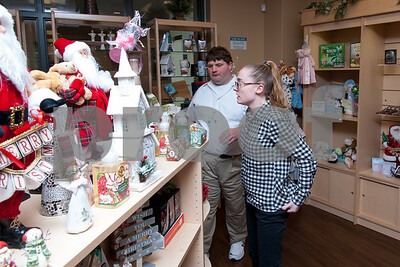 12/13/17  Wesley Bunnell | Staff  The Hospital for Special Care held a ribbon cutting for their gift shop now run by Good Cause Gifts on Wednesday at noon. Good Cause Gifts provides training and employment to individuals with disabilities. Store employees Dan & Megan help straighten the shelves for customers.