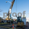 12/13/17  Wesley Bunnell | Staff<br /> <br /> Ever source crews work on a section of Main St. in front of the CTfastrak station on Wednesday afternoon.