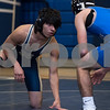 12/13/17  Wesley Bunnell | Staff<br /> <br /> Plainville wrestling defeated Newington Wednesday evening at Plainville High School.  Newington's Emilio Cruz, L, and Plainvlle's Dominic Pedrolini in the 120lb contest.