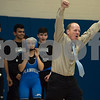 12/13/17  Wesley Bunnell | Staff<br /> <br /> Plainville wrestling defeated Newington Wednesday evening at Plainville High School.  Plainville Head coach Rusty Spence.
