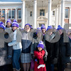 12/14/17  Wesley Bunnell | Staff<br /> <br /> Almost 500 people gathered outside in the shape of heart outside of Davidson Hall on CCSU's campus wearing purple hats with the hashtag #CCSULoveWins in honor of Ana Grace on the 5th anniversary of the Sandy Hook shootings.