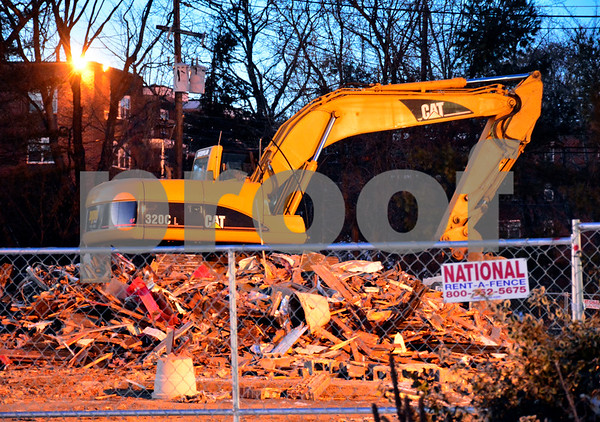 12/14/2017 Mike Orazzi | Staff Frankie's was torn down for a new medical/retail building along Route 6 in Bristol.