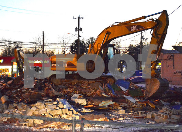 12/14/2017 Mike Orazzi | Staff Frankies was torn down for a new medical/retail building along Route 6 in Bristol.