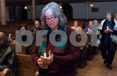 12/14/17  Wesley Bunnell | Staff  A Prayer Vigil Against Gun Violence was held at South Church on Thursday evening to remember the shooting at Sandy Hook on its 5th anniversary. Rev. Margret Hofmeister of First Church of Christ after helping to light visitors candles to send a message of unity and remembrance of the mass shooting.