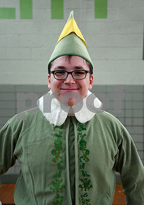 12/16/2017 Mike Orazzi | Staff Elf Sam Cultrera while volunteering at the Smith Elementary School's Breakfast with Santa on Saturday morning in New Britain.