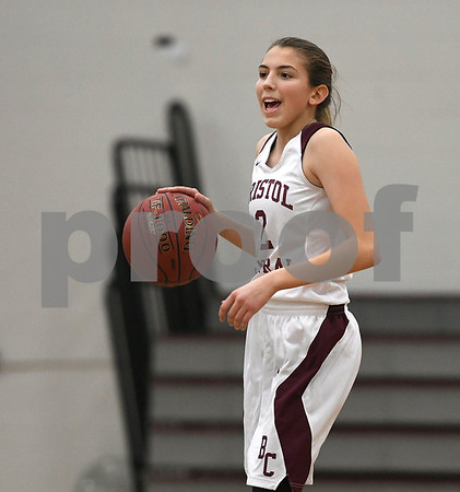 12/19/2017 Mike Orazzi   Staff Bristol Central's Allison Jessie (2) during Tuesday night's girls basketball game with Middletown at BC.