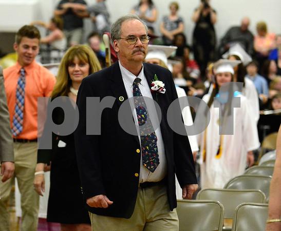 6/19/2014 Mike Orazzi   Staff Bristol Central High School's Dave Greenleaf during Thursday night's graduation ceremony.