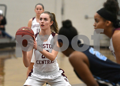 12/19/2017 Mike Orazzi | Staff Bristol Central's Ashley Watson (23) during Tuesday night's girls basketball game at BC in Bristol.