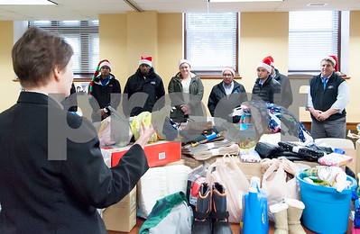 12/20/17  Wesley Bunnell | Staff  Papa's Dodge delivered donations to the Prudence Crandall Center on Wednesday afternoon as part of its fill the van drive held over the last several weeks.  Household items were collected at the dealership such as bedding, clothes, small appliances and other household necessities clients of the center who are victims of domestic violence. Prudence Crandall Executive Director Barbara Damon thanks the crew from Papa's Dodge for their support.