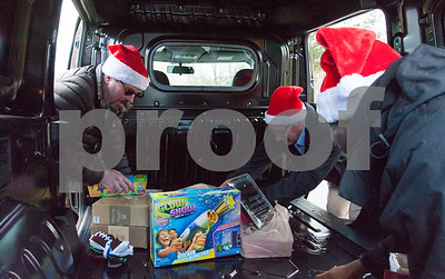 12/20/17  Wesley Bunnell | Staff  Papa's Dodge delivered donations to the Prudence Crandall Center on Wednesday afternoon as part of its fill the van drive held over the last several weeks.  Household items were collected at the dealership such as bedding, clothes, small appliances and other household necessities clients of the center who are victims of domestic violence. General Manager Sean Lawlor, L, Service and Parts Director Phil Vetre and Quaid Collomore.