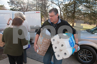 12/20/17  Wesley Bunnell | Staff  Papa's Dodge delivered donations to the Prudence Crandall Center on Wednesday afternoon as part of its fill the van drive held over the last several weeks.  Household items were collected at the dealership such as bedding, clothes, small appliances and other household necessities clients of the center who are victims of domestic violence. Prudence Crandall's Randy Martin helps unload two armloads of items.