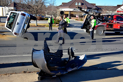 12/21/2017 Mike Orazzi | Staff The scene of a two vehicle crash on Route in Bristol near Bristol Commons. No injuries were reported.