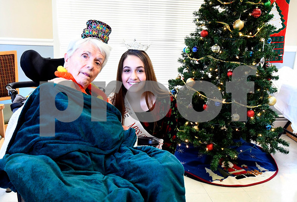 12/39/2017 Mike Orazzi | Staff Alyssa Petrone, Miss Greater Watertown's Outstanding Teen, while at Countryside Manor of Bristol for a visit with seniors Friday afternoon. Her platform is Alzheimer's.