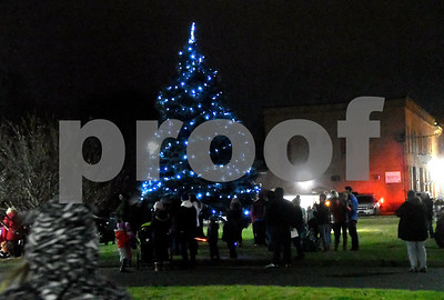 12/8/2017 Mike Orazzi   Staff The annual tree lighting held at the Plainville Fire Department Friday evening.