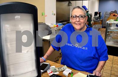 12/8/2017 Mike Orazzi   Staff Fancy Bagels' Jackie Gualtieri in Southington Friday.