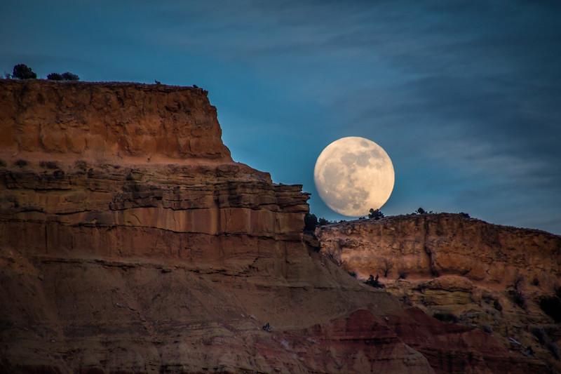 Moonrise Over Palo Duro Canyon, 12/31/17