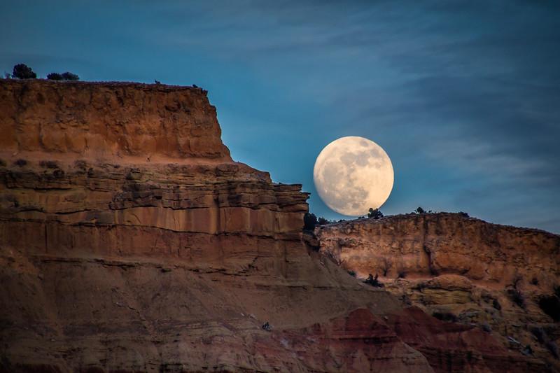 Moonrise lighter exposure.
