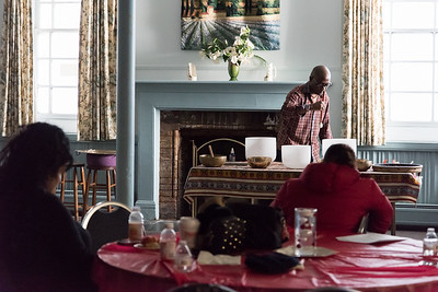 12/05/18  Wesley Bunnell | Staff  HRA of New Britain held a World AIDS Day event at South Church on Wednesday in New Britain.  Kelvin Young held a sound healing session where Tibetan singing bowls and crystal bowls are used to calm minds, relax bodies and nourish the soul.