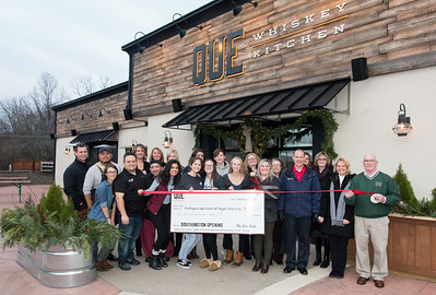 12/05/18  Wesley Bunnell | Staff  Que Barbecue located at 461 Queen St in Southington held their ribbon cutting on Wednesday just prior to their official opening which featured a donation to the Southington All Knight Graduation Party.  Co owner Philip Barnett, far L, Chef Chanthouen Thanh, Culinary Director for the Hartford Restaurant Group Chef Rodrigo Santiago, 3rd from L, Executive Chef Felipe Segundo, Southington High School students, Executive Director of the Southington Chamber of Commerce Taylor Crofton, holding scissors, Chamber Treasurer Lucia Chubet , next to Crofton back row, Co Chair of the All Knight Grad Party Dave Pestillo and his wife and co chair Michelle Pestillo.
