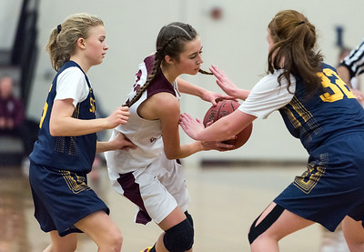 12/10/18  Wesley Bunnell | Staff  Bristol Central basketball vs Simsbury on the first game of the season on Monday night at Bristol Central High School. Ella Watson (23).