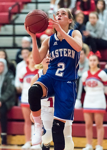 12/17/18  Wesley Bunnell | Staff  Berlin basketball vs Bristol Eastern at Berlin High School on Monday evening. Paige McLaughlin (2).