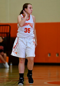 12/21/2018 Mike Orazzi | Staff Terryville's Kassie McCarthy (35)  during Friday night's girls basketball game with Litchfield in Plymouth.