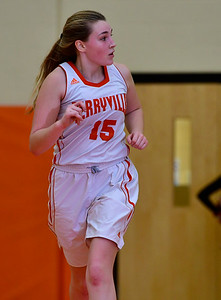 12/21/2018 Mike Orazzi | Staff Terryville's Tiffany Pires (15) during Friday night's girls basketball game with Litchfield in Plymouth.