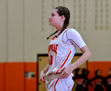 12/21/2018 Mike Orazzi | Staff Terryville's Alivia Cote (13) during Friday night's girls basketball game with Litchfield in Plymouth.