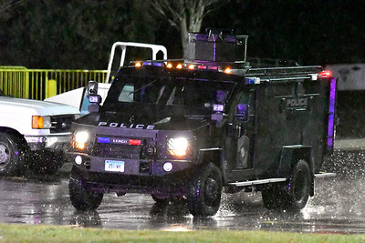12/28/2018 Mike Orazzi | Staff A man was taken into custody by an area SWAT team Friday after a report of a man with a gun was seen in the area behind the Connecticut Commons in Plainville. The gun was plastic and the suspect was being treated at an area hospital for non-life threatening injuries.