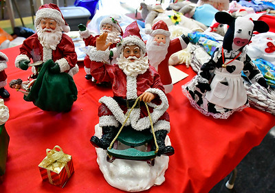 12/7/2018 Mike Orazzi | Staff Crafts made by Nancy Durkin for sale during the New Britain Senior Center's annual Holiday Bazaar Craft Fair on Friday.