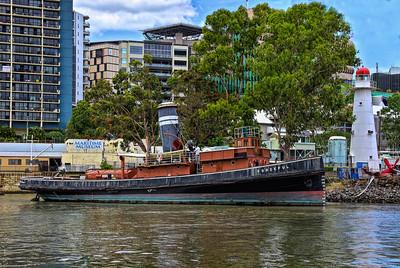The Tug 'Forceful', Brisbane Maritime Museum.